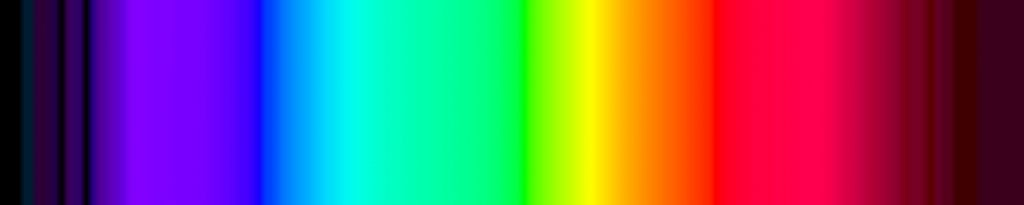 Photo: Colors of the visible light spectrum